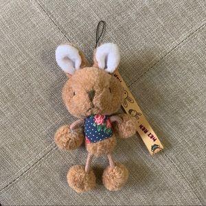 Plush Bunny Keychain